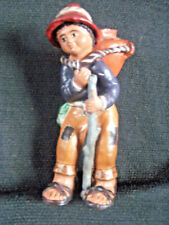 South American Folk Art Ceramic Sculpture Hand Made Hand Painted Figure 10x5x4