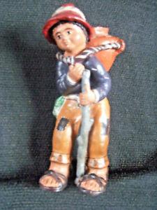 South American Folk Art Ceramic Sculpture Hand Made Hand Painted Figure 10x5x4