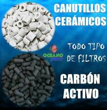PACK 1KG CANUTILLOS CERAMICOS + 500GR CARBON ACTIVO SUPER - ACTIVADO FILTROS