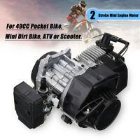 2 Stroke Pull Start Engine Motor For 47cc 49cc Mini Dirt Bike Scooter 25 Chain