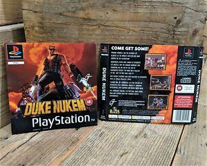 Duke Nukem (SLES 00703) Genuine ART INSERTS ONLY (PS1) NO Game