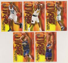 2000-01 FLEER ULTRA BASKETBALL 2 BALL INSERT CARD LOT 5 -SEE LIST-