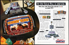 Nintendo SUPER GAME BOY__Original 1994 print AD / game promo__DONKEY KONG__SNES