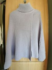 LADIES NWT M&S RIBBBED ROLL NECK PONCHO ONE SIZE