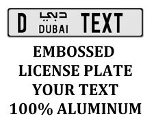 Dubai Euro Arabic License Plate Arab Number Tag Customized YOUR TEXT | ORIGINAL