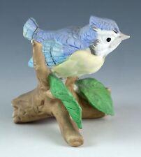 Vintage Lefton Porcelain 2.5 Inch Baby Blue Jay Bird Figurine