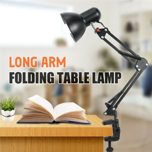 Adjustable Swing Long Arm Desk Lamp Work Reading Architect Clip-on Table 3 Q L