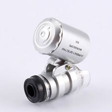 60X Magnifying Loupe Jewelry Jewelers Magnifier Loop Eye Lens With LED Light UK