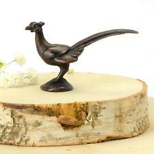 Bronze pheasant, miniature metal wild bird sculpture for bonsai display