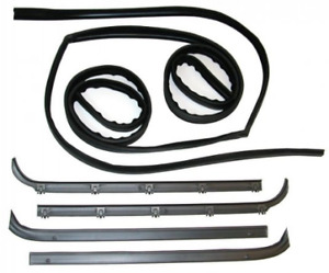 Ford F100 F250 F350 Bronco 1987 - 1996 Complete Door Rubber Seal Kit
