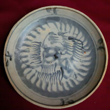 SALE Antique Chinese Ming Blue and White Shipwreck Dish-3