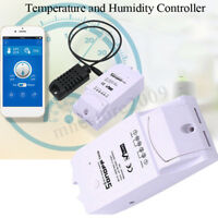 Sonoff TH16 Temperature And Humidity Monitoring WiFi APP Smart Switch 10A / 16A