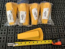 """9 QTY! *BULK LOT* MASTER GD005 Door Stop Wedge XL, Safety Yellow, 2""""H x 3-1/2""""W"""