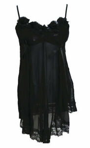 Sexy Damen Nachtwäsche Schwarz Dessous Kleid Reizwäsche Negligee 9 Farben #8109