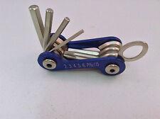 Mac Tools Mini Allen Wrench Hex Screwdriver Set Folding Blue