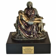 Large/Adult 320 Cubic Inches Jesus & Mary Wood Funeral Cremation Urn for Ashes