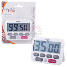 100% Genuine! D.LINE Appetito Quick Set Digital Timer 100 Minute White!