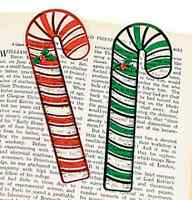 Pack of 12 - Christmas Candy Cane Bookmarks - Party Loot Bag Stocking Fillers