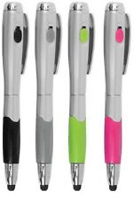 1 iPad iPhone Tablet 3-in-1 Touch Screen Stylus Pen + LED light YOU PICK A COLOR