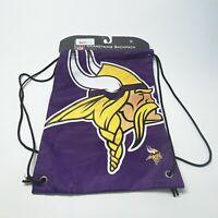 Minnesota Vikings Purple Drawstring Cinch Bag Tote Backpack Back Sack