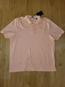 Ted Baker London 100% Cotton Polo Shirt Front Pocket In Peach Color Size 6 (XXL)