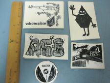 VOLCOM surf snowboard BMX skateboard 5 sticker set #2 Flawless New Old Stock