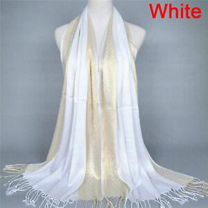Women Muslim Islamic Cotton Tassel Long Hijab Scarf Shawl Scarves Stole Wrap