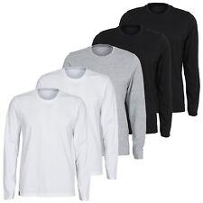 5er Pack Herren Langarm Shirt Longsleeve Sweatshirt Baumwolle M-3XL by Maat Mons