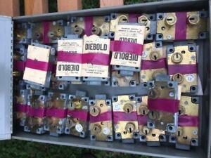 S&G 4440/Double Small/ Safe Deposit Box Locks Lot Of 5 LH /with Customer KEYS