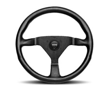 Momo Montecarlo 350mm Steering Wheel Black Red Leather 6 Bolt UTV RZR X3 YXZ