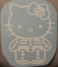 HELLO Kitty Skeleton SKULL Gothic Kitty Decal Sticker  CAR window 5""
