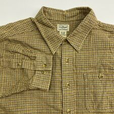 L.L.Bean Button Up Shirt Mens XXL Multicolor Houndstooth Long Sleeve Casual