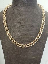 "9ct Solid Gold Belcher Chain Heavy 95.5 grams - 24""- Plain & Patterned"