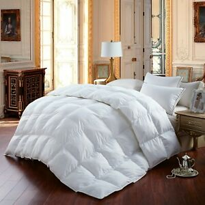 High Quality White Goose Down Comforter 1200TC 280gsm 58oz Full Size