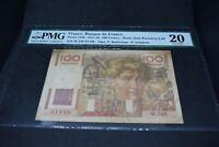 PMG Graded France, Banque de France p128b 1947 100Francs VF20 Banknotes