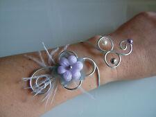 Bracelet Mauve/Parme/Gris/Violet clair original p robe de Mariée/Mariage/Soirée