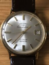 Mens Vintage Rotary Commodore Watch 21 Jewels Automatic