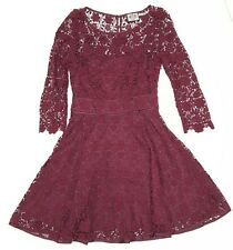 Juicy Couture Womens size 2 Guipure Lace Dress, #JG005714, Wine, EUC, $328, Prom