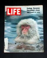LIFE MAGAZINE JANUARY 30  1970 SNOW MONKEYS