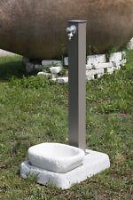Fontana da giardino in ferro zincata e colorata con base Bel-Fer tortora 42/Q