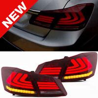 Red Led Brake Tail Lights Sequential Signal 2013-2015 Honda Accord 4 door Sedan