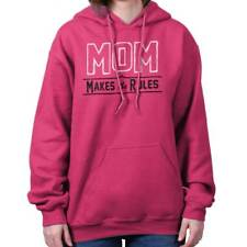 Mom Makes The Rules Mothers Day Boss Cute Birthday Gift Hoodie For Ladies