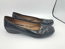 Life stride Womens Patent Leather Brown Flats Round Toe Slip On 11M