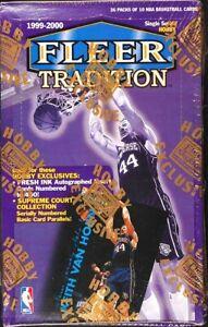 "1999 Fleer Tradition FACTORY SEALED BOX ""HOBBY"" Auto Michael Jordan, Kobe Bryant"