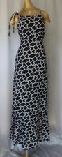 Black & White Cotton Print Michael Kors Halter Maxi Sun Dress - Sm
