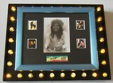 BOB MARLEY Filmcell Display MEMORABILIA GIFTS + COA. Silver Frame (LAST ONE)