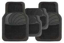 Aixam Crossline Universal Azura 4PC Black Rubber Carpet Mat Set