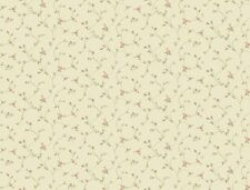 Wallpaper County Mini Print Rose Floral Vine Pink Peach Green Cream Background