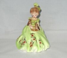 Josef Originals Collectibles Beautiful Girl in Green with Birds