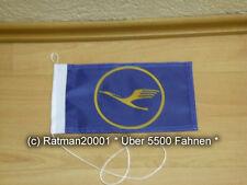 Fahnen Flagge Lufthansa Blau Tischwimpel - 14 x 27 cm